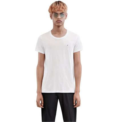 Acne Tシャツ・カットソー ACNE Standard face black/white スタンダードフェイス付Tシャツ(5)