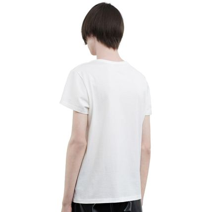 Acne Tシャツ・カットソー ACNE Standard face black/white スタンダードフェイス付Tシャツ(6)