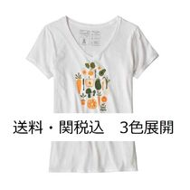 Patagonia Women's Harvest Haul Organic V-Neck T-Shirt 3色