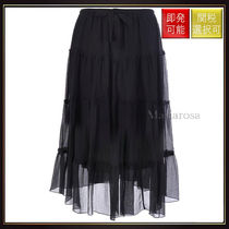 【シーバイクロエ】Flounced Crepon Midi Skirt OneColor