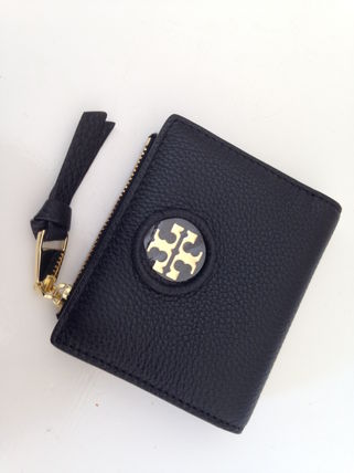 Tory Burch 折りたたみ財布 TORY BURCH WHIPSTITCH LOGO MINI WALLET セール 即発送(5)