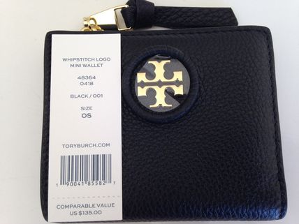 Tory Burch 折りたたみ財布 TORY BURCH WHIPSTITCH LOGO MINI WALLET セール 即発送(10)