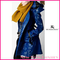 Burberry Sport★素敵!Blue Long Cotton Blend Trench Coat
