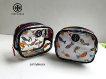 即発 TORY BURCH★FISH ROUND  COSMETIC CASE 48360*可愛い魚