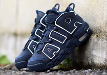 "最短2日 Nike Air More Uptempo GS ""ネイビー"" obsidian"