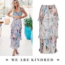 WE ARE KINDRED(ウィーアーキンドレッド) スカート 2018SS【WE ARE KINDRED】綺麗な色調レイヤードプリーツスカート