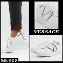 【Versace】Jeans Logo Runner Trainers シルバーロゴスニーカー