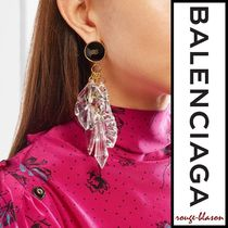 【国内発送】Balenciaga ピアス Gold-tone resin earrings