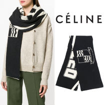 【18SS】大注目!!★CELINE★oversized embroidered detail scarf