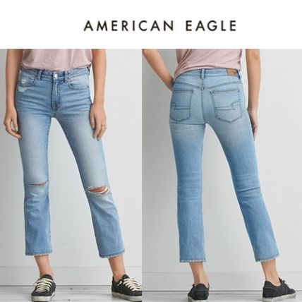 American Eagle Outfitters デニム・ジーパン ☆American Eagle Outfitters☆ デニムハイライズクロップパンツ