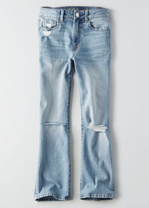 American Eagle Outfitters デニム・ジーパン ☆American Eagle Outfitters☆ デニムハイライズクロップパンツ(4)