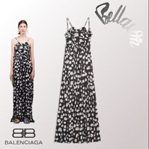 2018ss 新作 BALENCIAGA Dress Woman Summer Gown