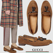 GUCCI グッチ Suede loafer リザードタッセルスエードローファー