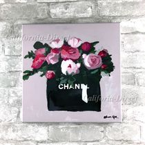 Oliver Gal 大きい 76x76cm Pink And Mint Bouquet キャンバス