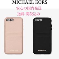 *国内発送* MK Saffiano Leather Case for iPhone 7/8 Plus