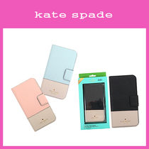 【即発◆3-5日着】kate spade◆iPhoneX用◆Leather wrap folio-X