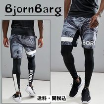 Bjorn Borg(ビョルン ボルグ) フィットネスボトムス Bjorn Borgパフォーマンスショーツ Withロゴ In Marble Print