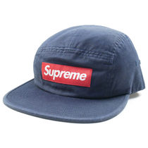 Supreme FW17 Washed Chino Twill Camp Cap 紺 (ステッカー付き)