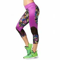 ☆ZUMBA・ズンバ☆ La Pachanga Mesh Capri Leggings TT