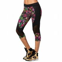 ☆ZUMBA・ズンバ☆ La Pachanga Mesh Capri Leggings PK