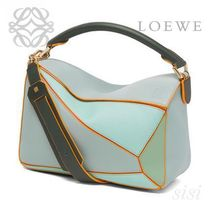 LOEWE★ロエベ Puzzle Bag Aqua Multitone