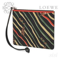 LOEWE★ロエベ Paula Flags Flat Pouch S Black