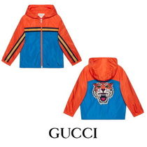 【GUCCI】Children's nylon jacket with tiger