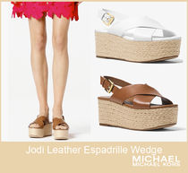 [セール]マイケルコース☆Jodi Leather Espadrille Wedge