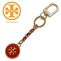 ☆Tory Burch Mercer Leather Inlay Key Fob☆RED,BLACK