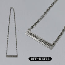 Off-White オフホワイト NAME HERE NECKLACE シルバー 国内発