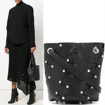 18SS PS156 MINI STUDDED HEX BUCKET BAG