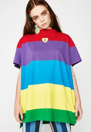 LAZY OAF Tシャツ・カットソー 可愛すぎる☆レインボー∞Tシャツ∞LAZY OAF