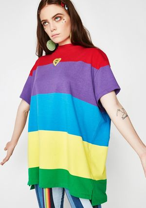 LAZY OAF Tシャツ・カットソー 可愛すぎる☆レインボー∞Tシャツ∞LAZY OAF(3)