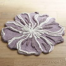 追跡・補償あり【宅配便】Flower-Shaped Round Lilac Bath Rug