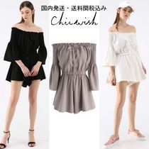 国内発・送関税込☆Chicwish☆Daily Chic Off-Shoulder Playsuit