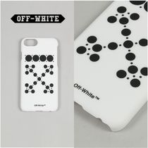 オフホワイト DOTTED ARROWS iPhone7/8 ケース WHITE BLACK