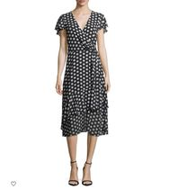 【大人気】Simple Dot Wrap Dress