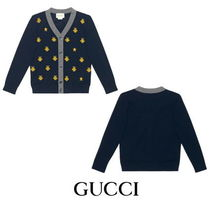 【GUCCI】Children's wool bees and stars cardigan