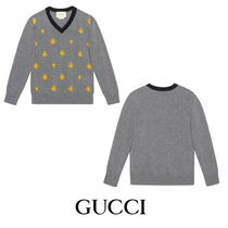 【GUCCI】Children's wool bees and stars sweater