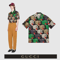GUCCI Panther face  シルク ボーリングシャツ 表情に漂う品格
