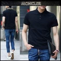 【MONCLER】18SS 配色 プリント ロゴポロシャツ BLACK/追跡付