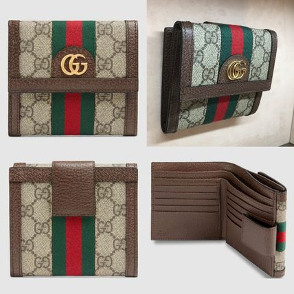 new concept 55a61 ab233 GUCCI Ophidia大人気オフィディアGG フレンチフラップウォレット