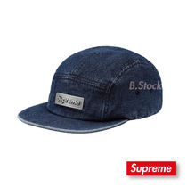 [18 S/S] 国内発送  Supreme Metal Plate  Camp Cap