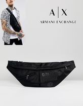 【A/X Armani Exchange】ナイロンクロスボディロゴ入りバッグ