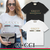 GUCCI グッチ Washed T-shirt ロゴ入りウォッシュド Tシャツ