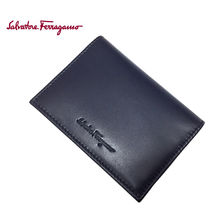 Salvatore Ferragamo 66-0638 0665894 B.INK 名刺入れ 紺 (新品)