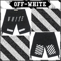 【OFF WHITE】15SS NEW WHITE CARGOハーフパンツ BLACK/追跡送料