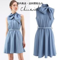 送関込☆Chicwish☆Tie To Be Comely Sleeveless Chambray Dress