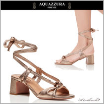 ◆AQUAZZURA 18SS最新作◆Delicieuse Sandal◆レースアップGD◆