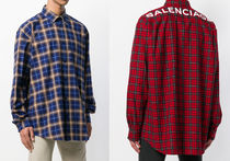 【関税負担】 BALENCIAGA BAL PLAID SHIRTS